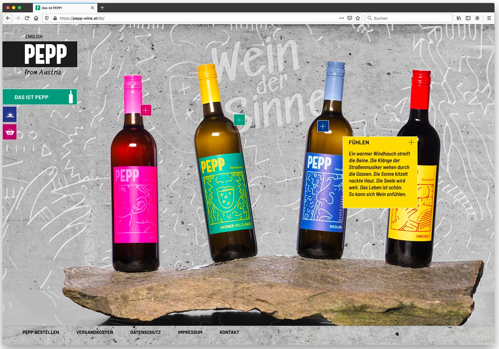 Website pepp-wine.at